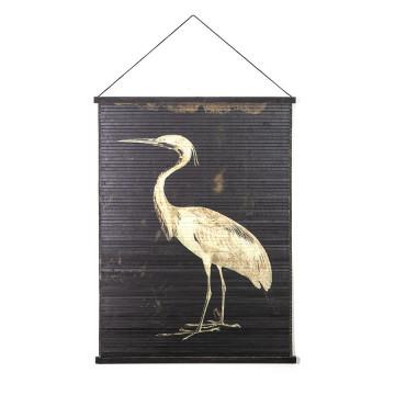 Decoratiune de perete din bambus Miyagi bird large