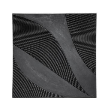 Decoratiune de perete patrata Tazi 90 cm neagra