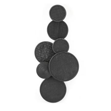 Decoratiune de perete Round & round neagra