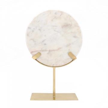 Decoratiune din marmura Ajnur, auriu/alb