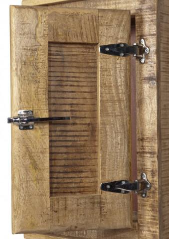 Etajera din lemn masiv Frigo, natural, 70 cm