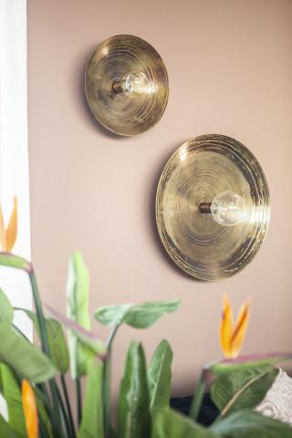 Lampa decorativa / Aplica de perete din fier Horus bronze mica, un bec