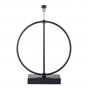 Lampa decorativa din fier Byron neagra, un bec