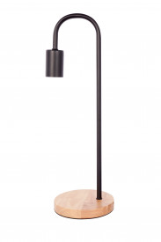 Lampa decorativa din metal/lemn Vinara neagra, un bec