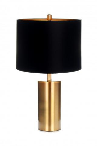 Lampa decorativa din tesatura/metal Wostok neagra /aurie, un bec