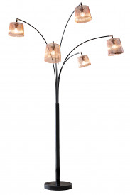 Lampadar din metal/cupru Five fingers 215 cm copper, 5 becuri