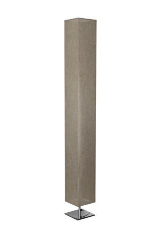 Lampadar patrat din otel/plastic/tesatura 120 cm be, 2 becuri