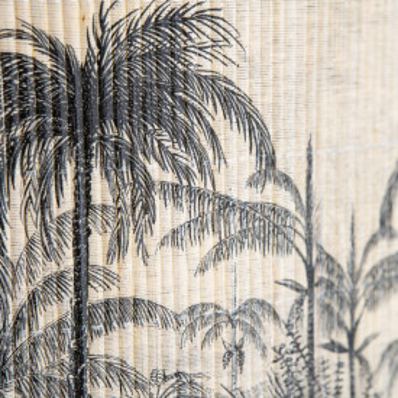 Lustra din bambus Morita large neagra/natural, un bec