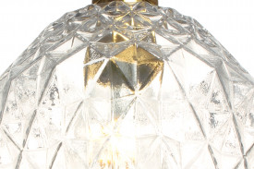 Lustra din sticla Lumi transparenta, un bec