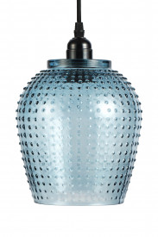 Lustra din sticla Riva albastra, un bec
