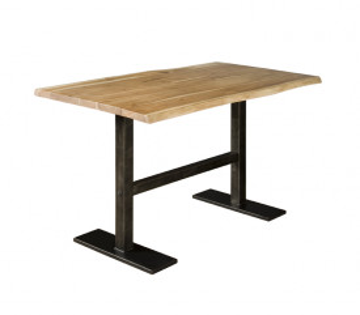 Masa de bar dreptunghiulara din lemn 140x90x94 cm maro