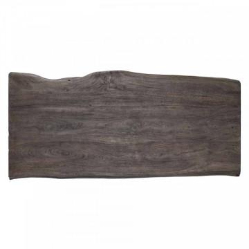Masa de bar forma neregulata din lemn de salcam Tuxedo 105x160x80 cm gri