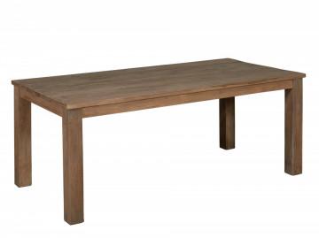 Masa dreptunghiulara din lemn de tec 140x80x78 cm maro inchis