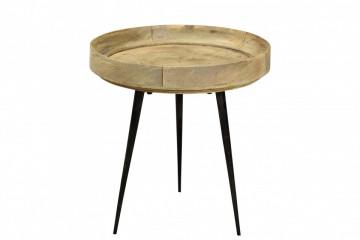 Masuta de cafea rotunda din lemn de mango This&That 40x40x35 cm maro deschis