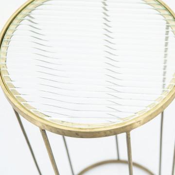 Masuta pentru plante cu blat din sticla Caesar 30x30x60 cm