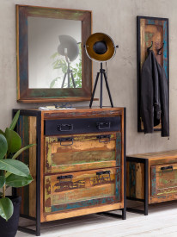 Oglinda dreptunghiulara cu rama din lemn RIVERBOAT, 68 x 8 x 79 cm