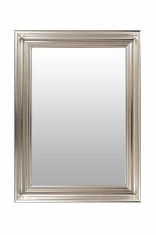 Oglinda dreptunghiulara cu rama din polistiren argintie Scott, 79,5cm (L) x 59,5cm (L) x 5,2cm (H)