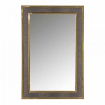 Oglinda dreptunghiulara cu rama din poliuretan auire Bara, 90 x 60 x 3 cm