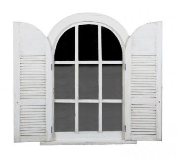 Oglinda fereastra alba, 94x9x128 cm