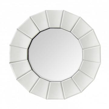 Oglinda rotunda Amun Argintiu, 4cm (L / D) x 60cm (l) x 60cm (H)