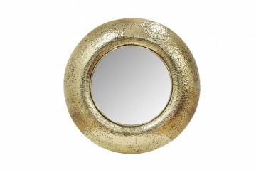 Oglindă rotunda cu rama din fier aurie Duke 75x75x9 cm