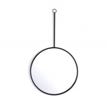 Oglinda rotunda cu rama neagra Womack 40x3x70 cm