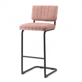 Scaun de bar din catifea High Operator Old Pink