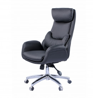 Scaun de birou rotativ din piele artificiala Sean negru