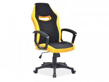 Scaun de birou tapitat Camaro negru/galben
