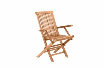 Scaun pentru gradina din lemn de tec pliabil maro