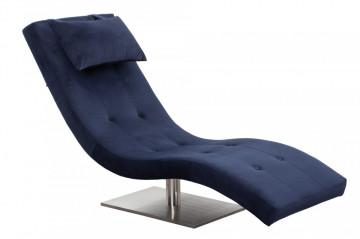 Scaun sezlong tapițat cu pernă inclusă Relax albastru