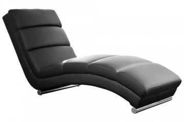 Scaun sezlong tapițat Relax negru