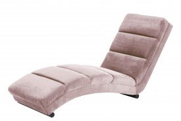 Scaun sezlong tapițat Sento roz
