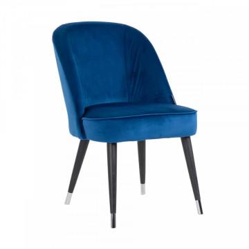 Scaun tapitat Julius albastru