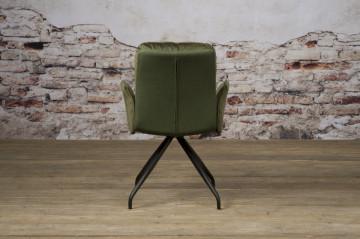 Scaun tapitat rotativ cu cotiere Rota verde