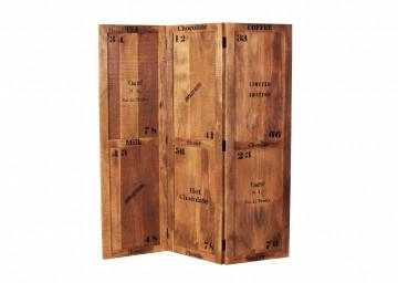 Separator camera din lemn de mango Rustic 150x170x3 cm