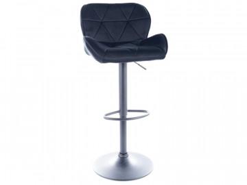 Set 2 scaune de bar din catifea reglabil 60-83 cm negre