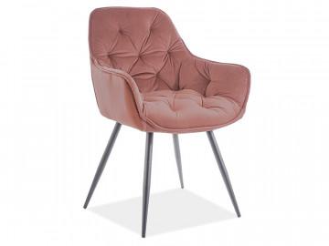 Set 2 scaune din catifea Cherry roz mat