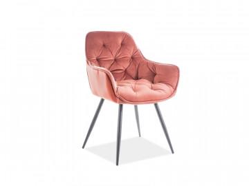 Set 2 scaune din catifea Cherry roz