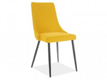 Set 2 scaune din catifea Piano galben mat