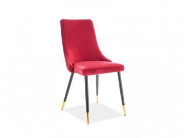 Set 2 scaune din catifea Piano rosii