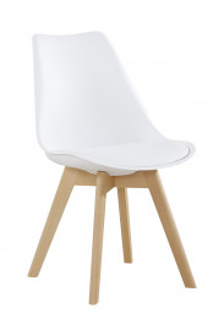 Set 2 scaune Monica albe