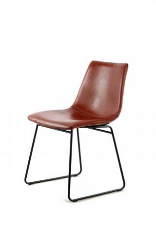 Set 2 scaune piele artificiala Caila maro