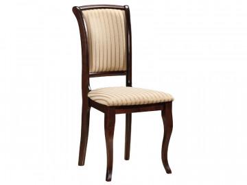 Set 2 scaune tapitate cu cadru din lemn crem/maro