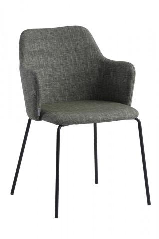 Set 2 scaune tapitate cu cotiere kaki