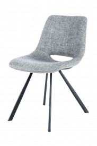 Set 2 scaune tapitate Josephine gri