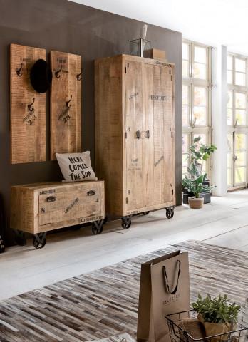Set 4 piese mobilier pentru hol din lemn de mango Rustic