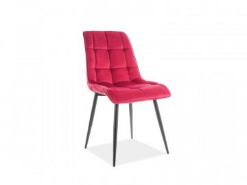 Set 4 scaune din catifea Chic rosu/negru