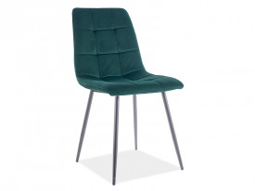 Set 4 scaune din catifea Mila verde mat