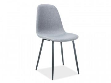 Set 4 scaune tapitate Fox gri/negru